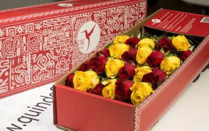 luxury autumn roses box pack red yellow