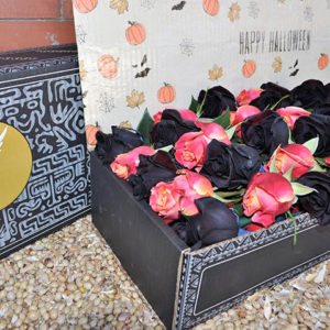 luxury halloween box roses pack